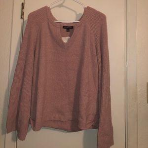 Light Pink INC V-neck Sweater